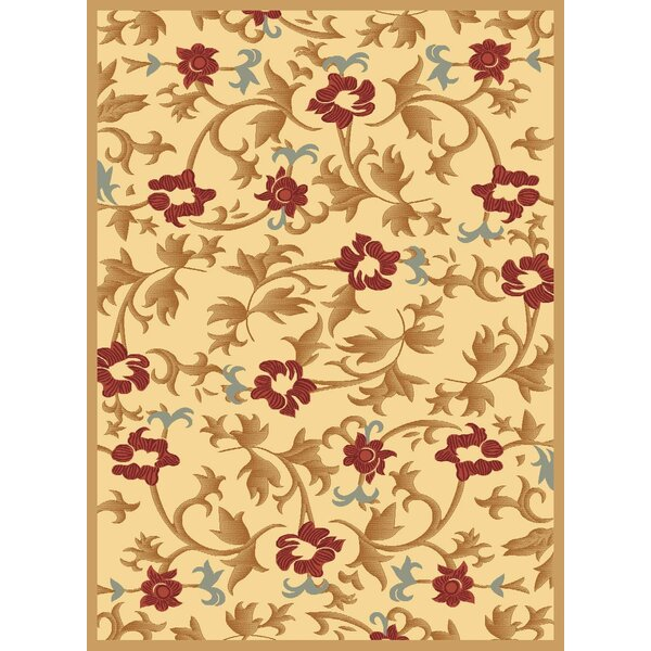 Jordan Cream Area Rug by Threadbind