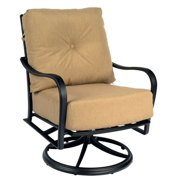 Apollo Swivel Patio Chair with Cushions by Woodard