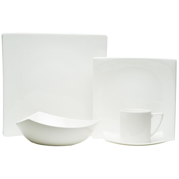 Extreme White 20 Piece Dinnerware Set, Service for 4 by Red Vanilla