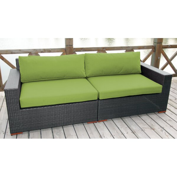 Scholtz Patio Sofa with Cushions by Bay Isle Home