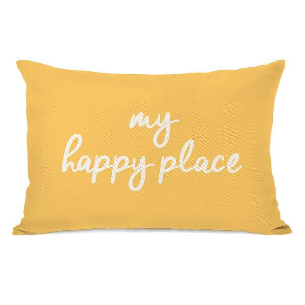 Peltz My Happy Place Outdoor Lumbar Pillow by Ebern Designs