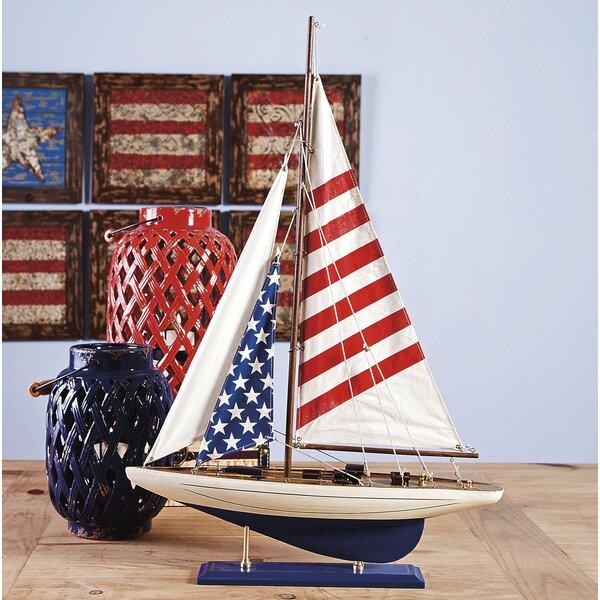 Winkelman American Flag Sailboat by Breakwater Bay