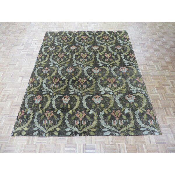 One-of-a-Kind Josephson Transitional William Morris Oushak Hand-Knotted Wool Brown Area Rug by Canora Grey