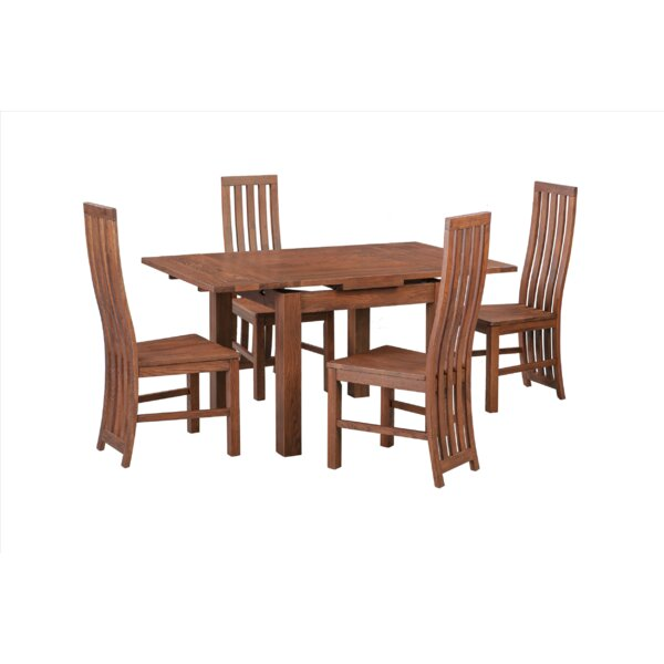 Alicia 5 Piece Extendable Solid Wood Dining Set By Foundry Select
