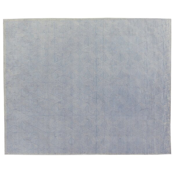 Pavillion Wool Blue/Silver Area Rug by Exquisite Rugs
