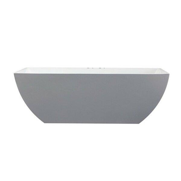Freestanding Soaking Bathtub by Kube Bath