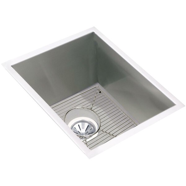 Crosstown 17 L x 21 W Undermount Kitchen Sink with Grid and Drain Assembly by Elkay