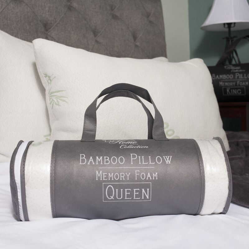 foam bedding memory pillow my bed white pillows zoom spotwf context bamboo