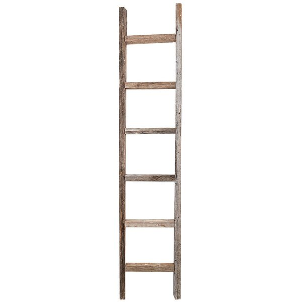 RusticDecor Wood 6 Ft. Decorative Ladder & Reviews