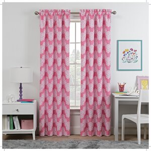 Waverly Airwaves Chevron Damask Blackout Rod Pocket Single Curtain Panel