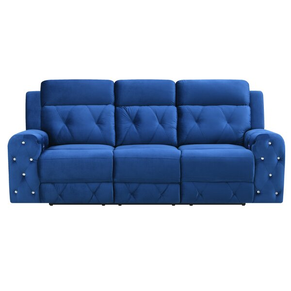 Clearance Lefever Jewel Embellished Power Reclining Sofa by Mercer41 by Mercer41