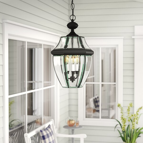 Mellen 3-Light Outdoor Hanging Lantern by Three Posts