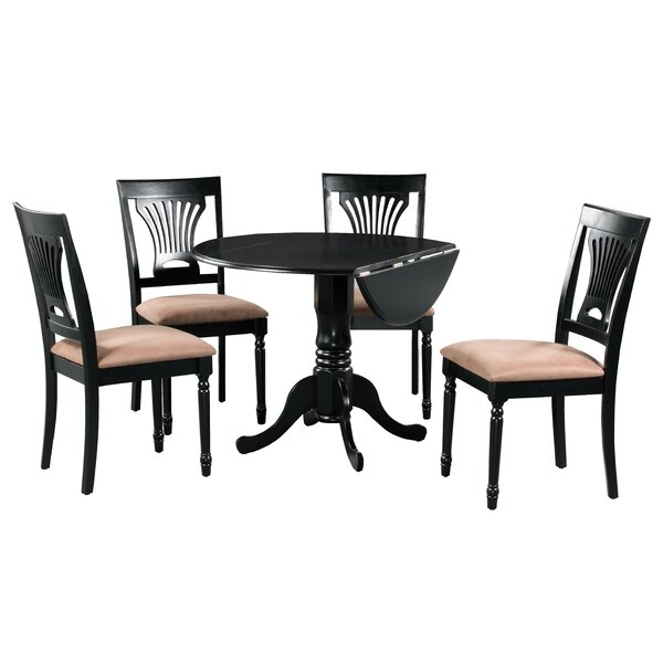 Best Choices Brompton 5 Piece Drop Leaf Solid Wood Dining Set By Alcott Hill Herry Up