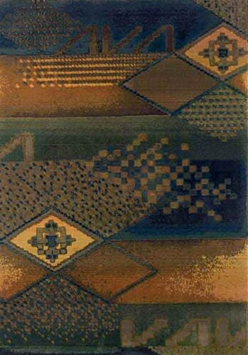 Sarabi Blue/Green Area Rug by Bloomsbury Market