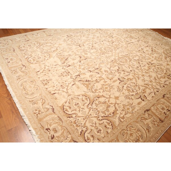 One-of-a-Kind Wyndham Pile Hand-Knotted Wool Beige Area Rug by Canora Grey
