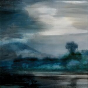 'Cerulean Dawn I' Painting Print on Canvas by East Urban Home