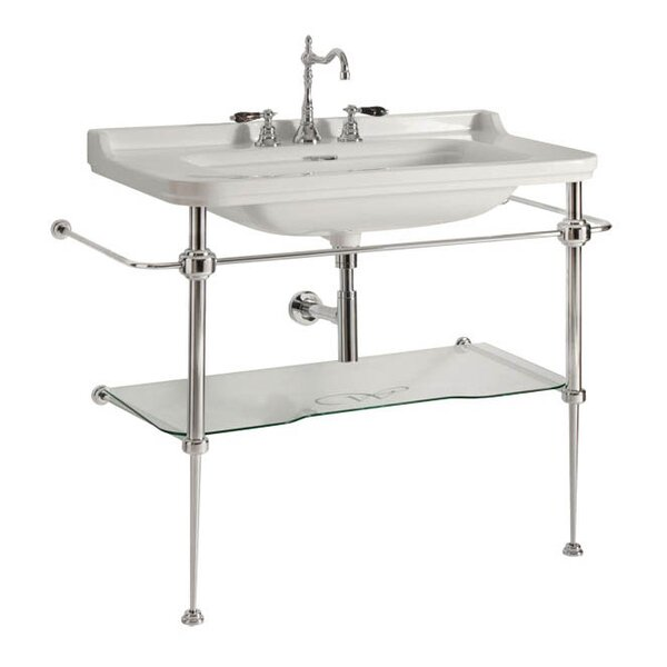 Waldorf Ceramic 32 Console Bathroom Sink with Overflow by WS Bath Collections
