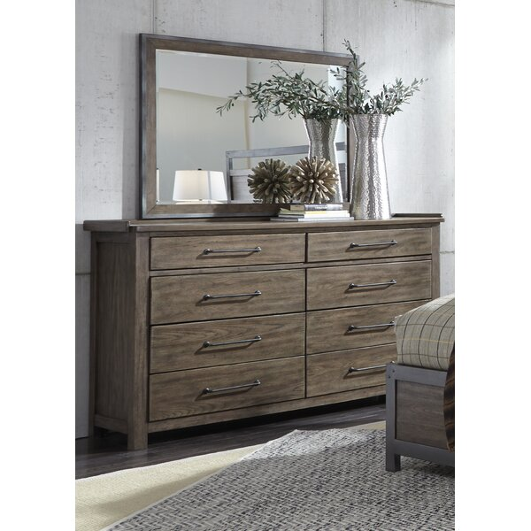 Clayton 8 Drawer Double Dresser with Mirror by Gracie Oaks