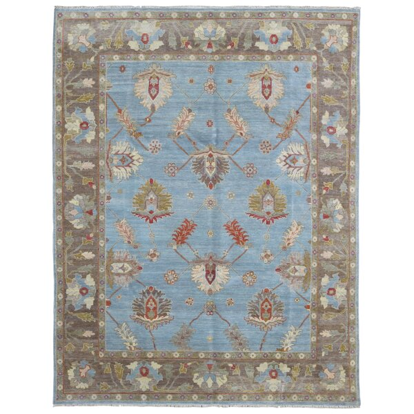Baron Hand Woven Wool Blue/Brown Area Rug by Isabelline