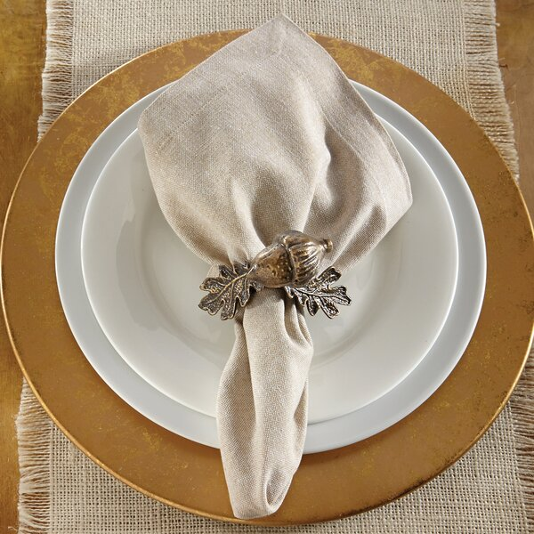 Bronze Acorn Napkin Ring (Set of 4) by Mud Pie™
