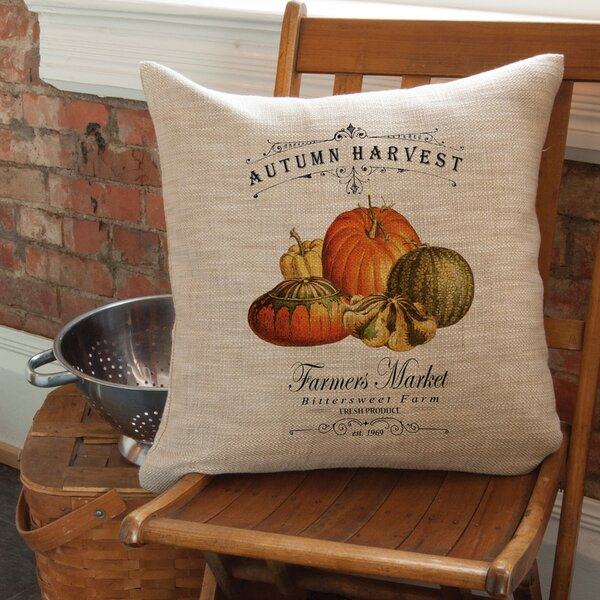 Spivey Autumn Harvest Pillow Cover by August Grove
