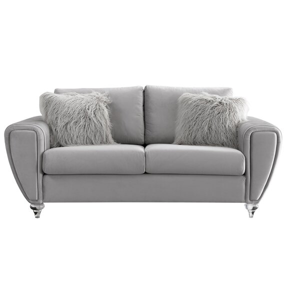 Schweitzer 75 Inches Charles Of London Loveseat By Everly Quinn