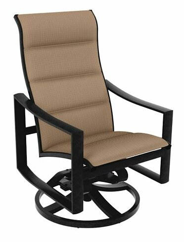 Kenzo Swivel Patio Dining Chair with Cushion by Tropitone