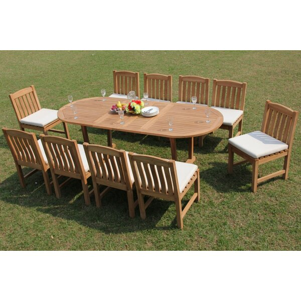 Delmonte 11 Piece Teak Dining Set by Rosecliff Heights
