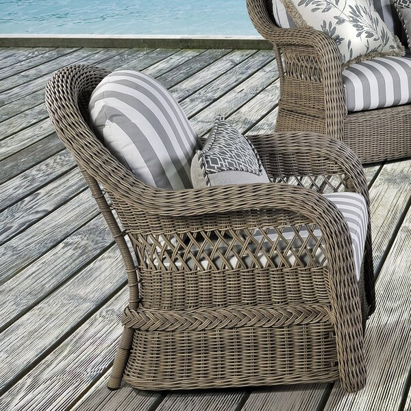 Britt Deep Seating Chair with Cushion by Ophelia & Co.