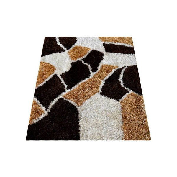 St Catherine Hand-Tufted Polyester Brown/Cream Area Rug by Millwood Pines