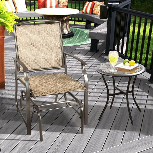 Latrobe Garden Swing Rocking Chair by Highland Dunes