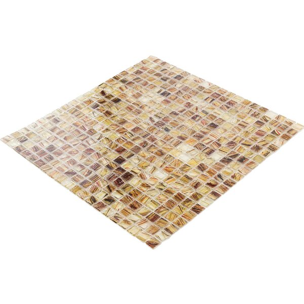 Breeze 0.62 x 0.62 Glass Mosaic Tile in Brown/Amber by Splashback Tile