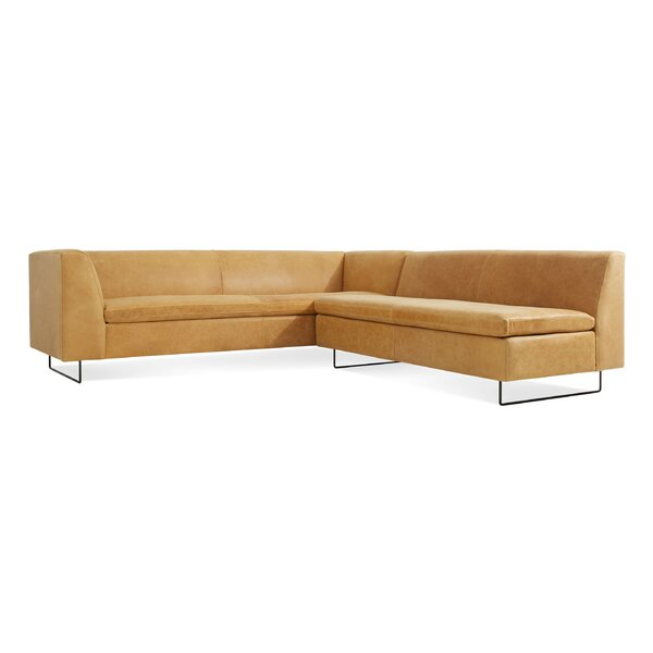 Bonnie and Clyde Leather Sectional Sofa by Blu Dot
