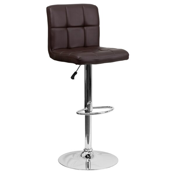 Hirano Adjustable Height Swivel Bar Stool by Zipcode Design