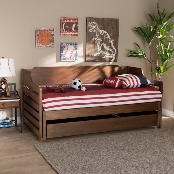 Teebar King Solid Wood Daybed By Harriet Bee