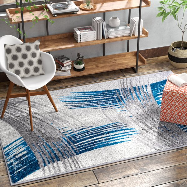 Melendy Wool Blue Indoor/Outdoor Area Rug by Ebern Designs