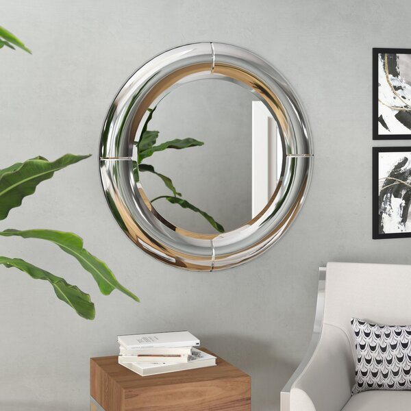 Circular Wall Mirror by Orren Ellis