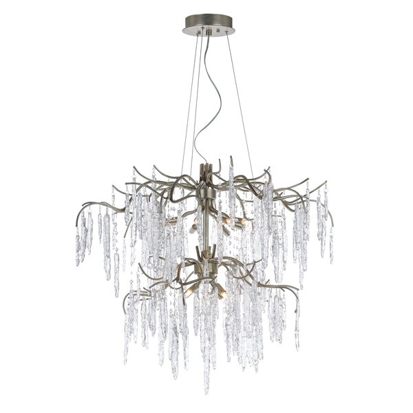 Giltner 12 - Light Unique / Statement Tiered Chandelier with Crystal Accents by Everly Quinn Everly Quinn