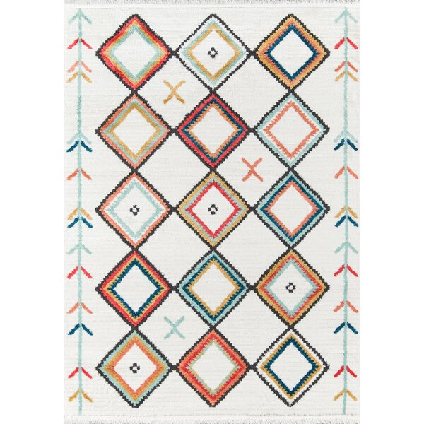 Totterdown Ivory/Orange Area Rug by Union Rustic