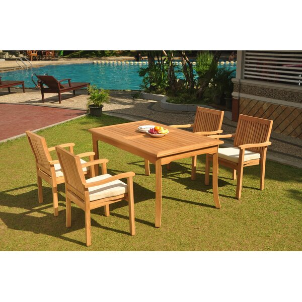 Oakpark 5 Piece Teak Dining Set by Rosecliff Heights