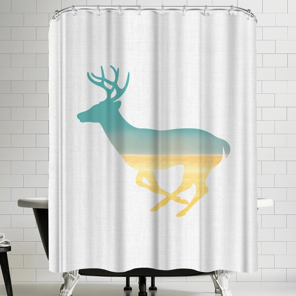 Annie Bailey Deer And Plains Shower Curtain by East Urban Home