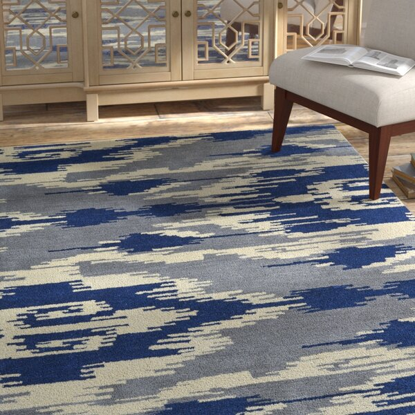 Hocca Hand-Tufted Blue Area Rug by Bungalow Rose