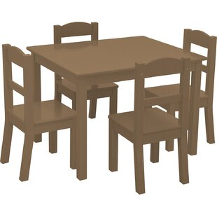 Read Reviews Phillip Kids 5 Piece Square Table and Chair Set By Harriet Bee