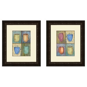 'Cups' 2 Piece Framed Painting Print Set by Charlton Home