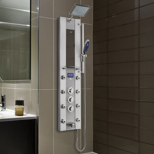 Thermostatic Tower Rainfall Shower Panel - Includes Rough-In Valve by AKDY