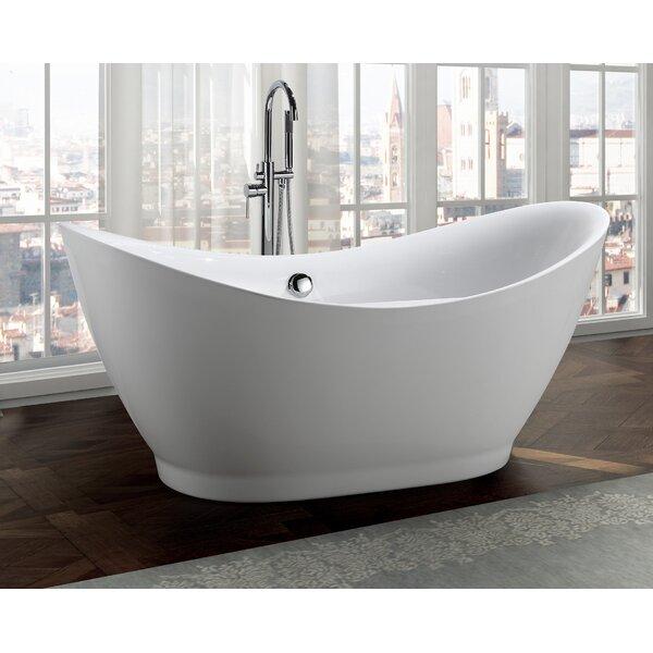 Salerno 68 x 32 Freestanding Soaking Bathtub by Bellaterra Home