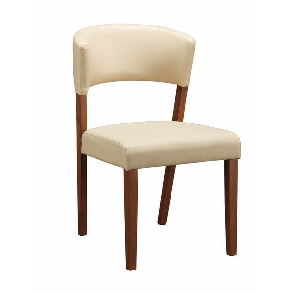 Meltzer Wooden Upholstered Dining Chair (Set of 2) by Ivy Bronx
