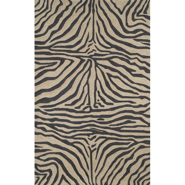 Fellman Black Zebra Outdoor Rug by Bloomsbury Market