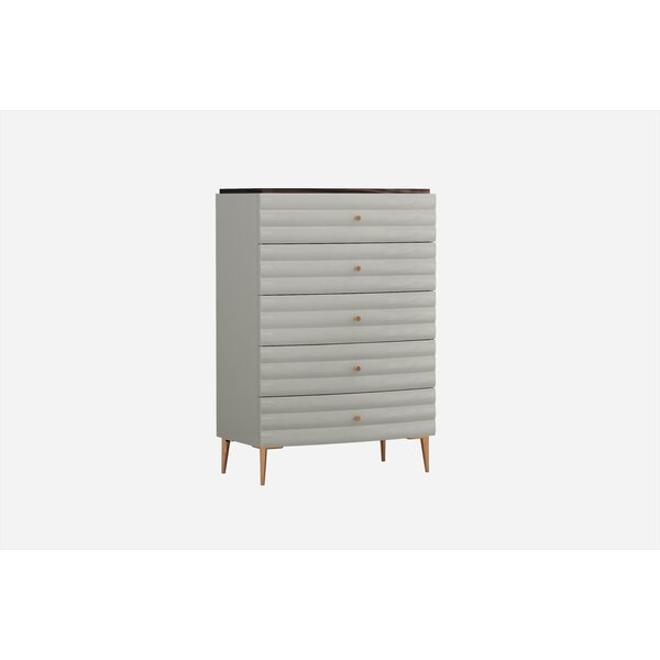 Amick 5 Drawer Chest by Everly Quinn