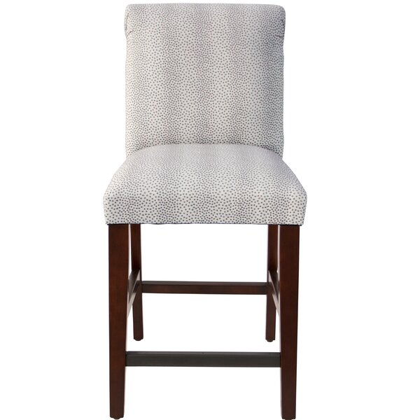 Cynthia Faux Fur Upholstered Bar Stool by Darby Home Co